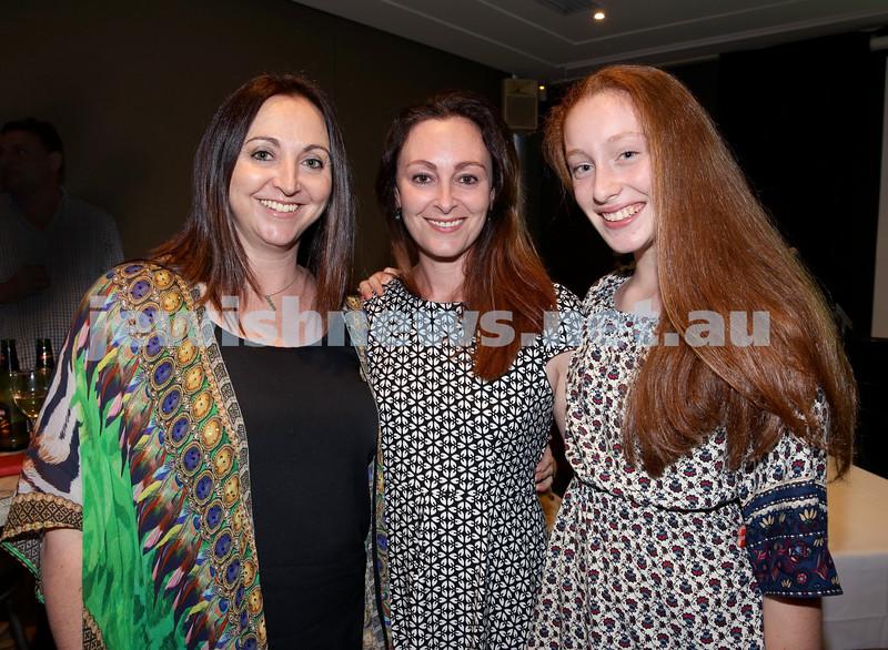 Barry Joseph's farewell function at the RMYC. (from left) Kellye Bettman, Brooke Kozlovsky, Allyssa Kozlovsky. Pic Noel Kessel.