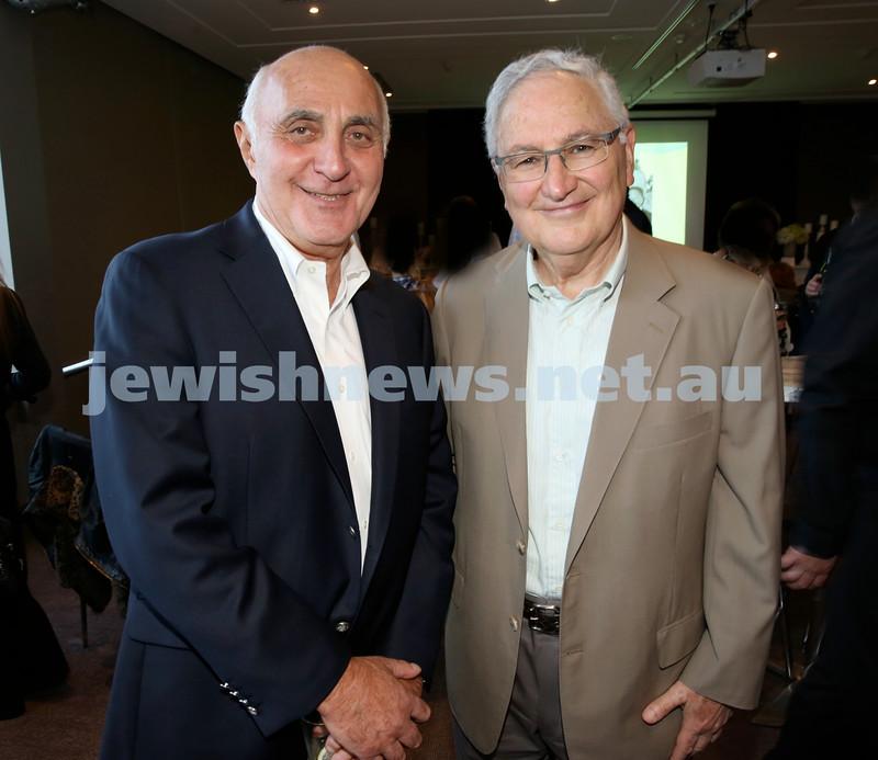 Barry Joseph's farewell function at the RMYC. Barry Joseph (left) & Michael Dunkel. Pic Noel Kessel.