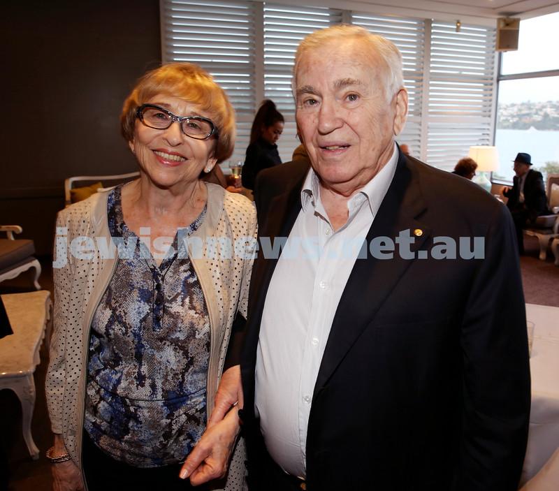 Barry Joseph's farewell function at the RMYC. Gerda & Joseph Brender. Pic Noel Kessel.