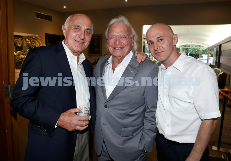 Barry Joseph's farewell function at the RMYC. (from left) Barry Joseph, Wolfie Pizem, David Joseph. Pic Noel Kessel.