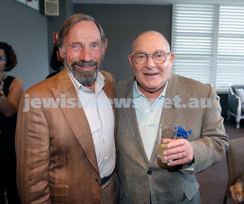 Barry Joseph's farewell function at the RMYC. Tom Breen (left) & Sam Leon. Pic Noel Kessel