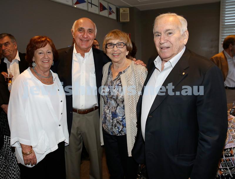 Barry Joseph's farewell function at the RMYC. (from left) Dianne Joseph, Barry Joseph, Gerda Brender, Joseph Brender. Pic Noel Kessel.