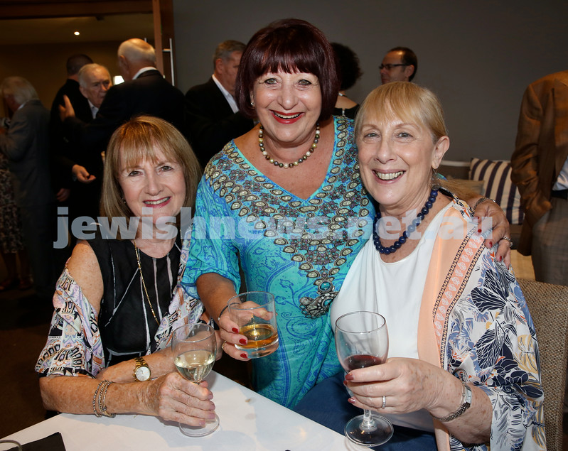 Barry Joseph's farewell function at the RMYC. (from left) Kathy Benjamin, Pam Leon, Barbara Goodman. Pic Noel Kessel.