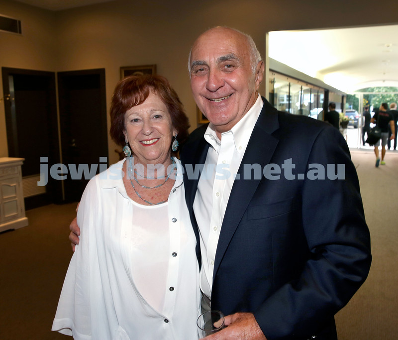 Barry Joseph's farewell function at the RMYC. Barry Joseph (right) with wife Dianne. Pic Noel Kessel.