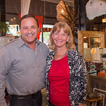 Barry Wooley of Barry Wooley Designs and Pam Rice of Neighborhood House.
