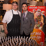 Chef Oscar Maldonado and Kami Fatehi of Anoosh Bistro.