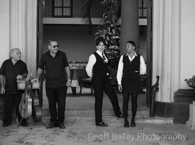 Waiters and Band, Trinidad, Cuba