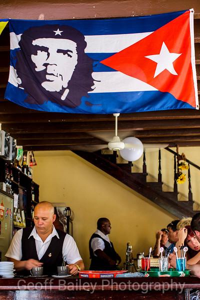 Cuban Flag and Bar