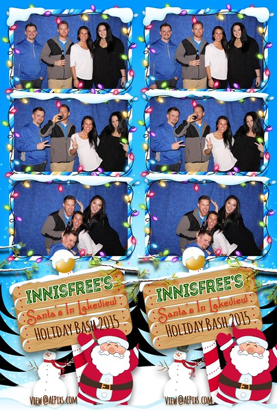 Innisfree Santa's in Lakeview Holiday Bash 2015