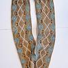 Jesse Cornplanter's bandolier bag, a Haudenosaunee beaded deerhide strap with a Plains beaded pouch.