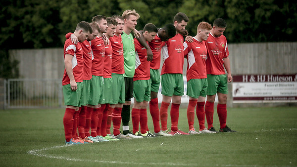 Harrogate Railway during the minute of silence in memory of Daniel Wilkinson