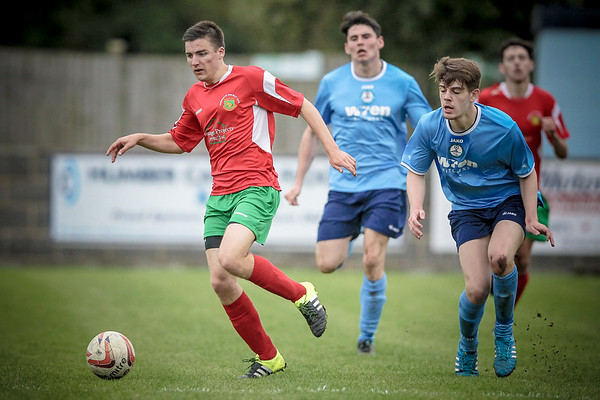 Harry Brown, player of the season so far, runs with the ball.