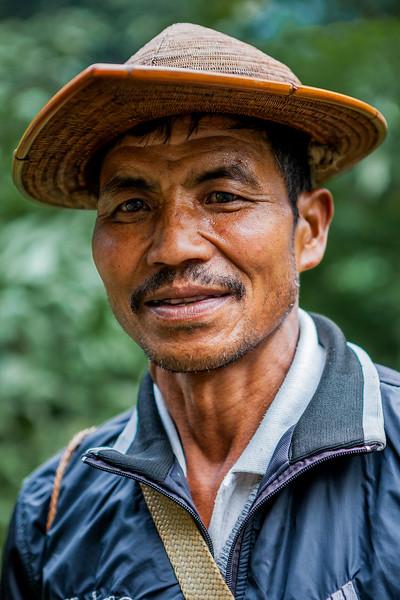 A Galo man from Sago village, Basar, Arunachal Pradesh, India