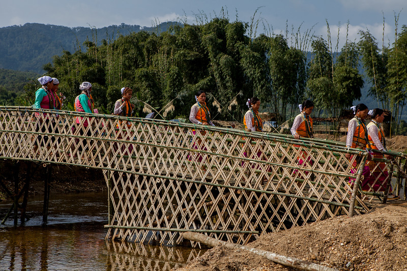 Bamboo bridge at BasCon, Basar, Arunachal Pradesh, India