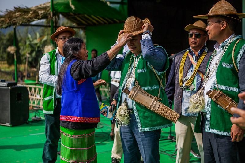 Guest felicitation BasCon, Basar, Arunachal Pradesh, India