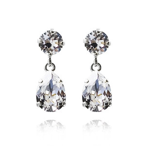 Mini Drop Earrings / Crystal Rhodium