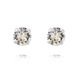 Petite Stud Earrings / Crystal Rhodium