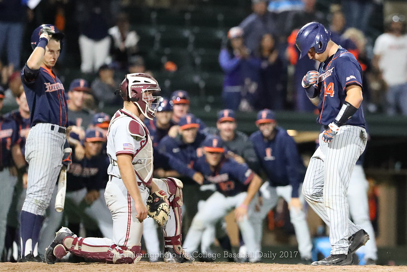 6/3/17: NCAA Regionals Stanford vs Fullerton at Klein Field at Sunken Diamond in Palo Alto, CA <br /> CSU Fullerton Titans catcher Chris Hudgins (24)<br /> <br /> Image by Chris M. Leung for College Baseball Daily