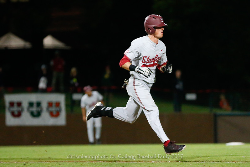 6/3/17: NCAA Regionals Stanford vs Fullerton at Klein Field at Sunken Diamond in Palo Alto, CA <br /> Stanford Cardinal outfielder Jack Klein (2)<br /> <br /> Image by Chris M. Leung for College Baseball Daily