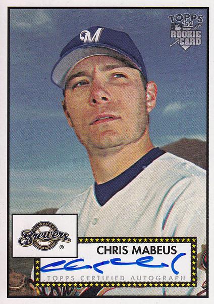 2006 Topps Heritage Chris Mabeus 52S-CM