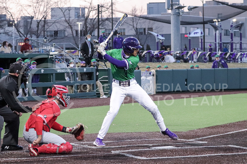 Redshirt Junior Kamron Willman is at bat during the game on March 19, 2021 against New Mexico. (Macey Franko | Collegian Media Group)