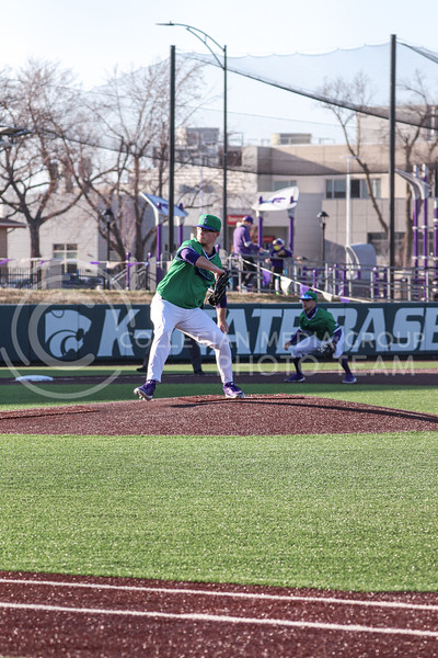 Sophomore Jordan Wicks pitches during the game on March 19, 2021 against New Mexico. (Macey Franko | Collegian Media Group)
