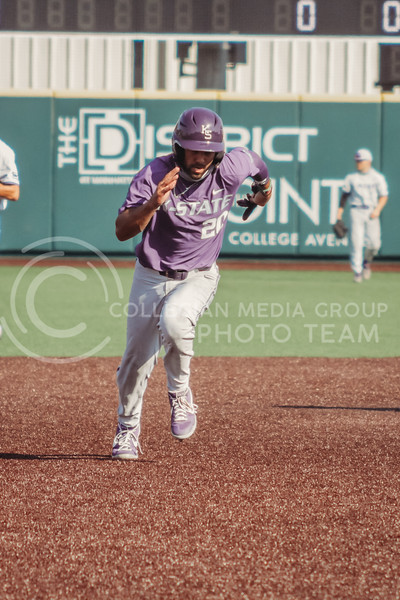 Daniel Carinci runs to third during the first game of the intrasquad Fall World Series at Tointon Family Stadium on October 8th. (Sophie Osborn | Collegian Media Group)