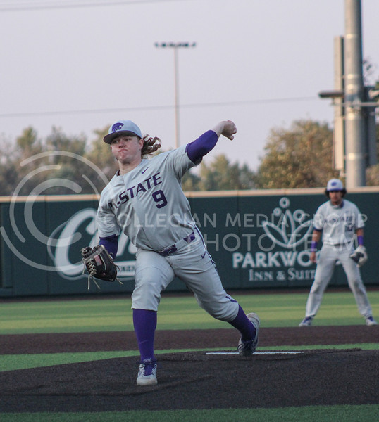 Josh Flack throws a pitch in game two of the team's Fall World Series at Tointon Family Stadium on October 9th. (Macey Franko | Collegian Media Group)