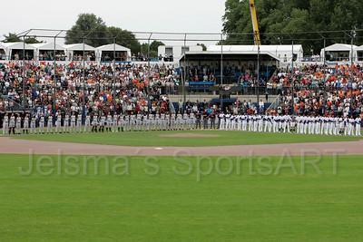 pim mulier stadion honkbal haarlemse honkbalweek nederlands team 2008 oranje Chinese Taipei tegen Nederland Taiwan baseball volksliederen bij aanvang