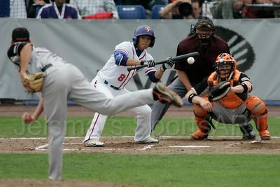pim mulier stadion honkbal haarlemse honkbalweek nederlands team 2008 oranje Chinese Taipei tegen Nederland Taiwan baseball goed uitgevoerde stootslag voor  chih-yao chan