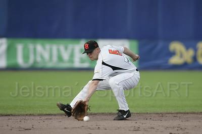 pim mulier stadion honkbal haarlemse honkbalweek nederlands team 2008 oranje netherlands - cuba jeroen sluijter in actie