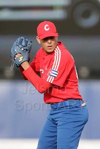 pim mulier stadion honkbal haarlemse honkbalweek nederlands team 2008 oranje netherlands - cuba pitcher werper van cuba yuniesky maya aan het werk