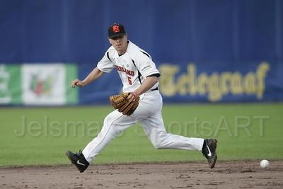 pim mulier stadion honkbal haarlemse honkbalweek nederlands team 2008 oranje netherlands - cuba jeroen sluijter in actie op korte stop