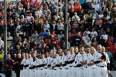 pim mulier stadion honkbal haarlemse honkbalweek nederlands team 2008 oranje netherlands - cuba volkslied van nederland wilhelmus