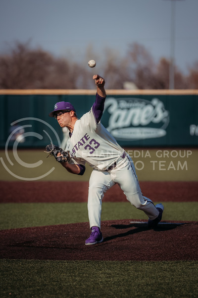 Sophomore pitcher Jordan Wicks puts the ball into motion during the first game against Eastern Illinois on March 5, 2021 at Tointon Family Stadium. (Sophie Osborn | Collegian Media Group)