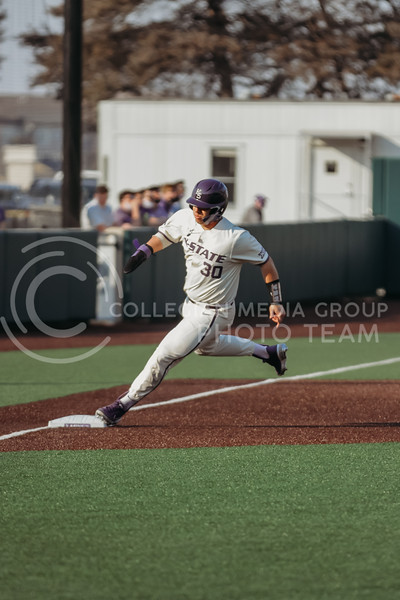 Senior catcher Chris Ceballos makes it to third base during the first game against Eastern Illinois on March 5, 2021 at Tointon Family Stadium. (Sophie Osborn | Collegian Media Group)