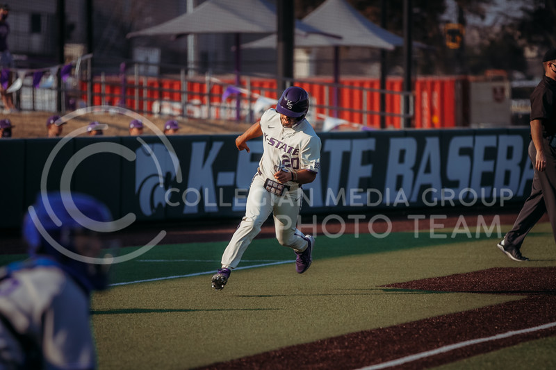 Sophomore infielder Daniel Carinci heads to home plate during the first game against Eastern Illinois on March 5, 2021 at Tointon Family Stadium. (Sophie Osborn | Collegian Media Group)