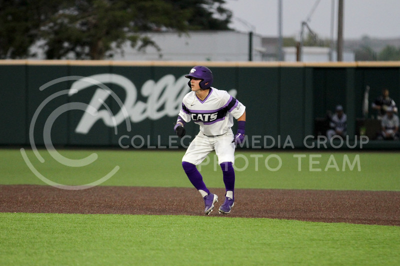 Sophomore Blake Burrows watches the batter during the April 27, 2021 game against Missouri at Tointon Family Stadium. (Sophie Osborn | Collegian Media Group)