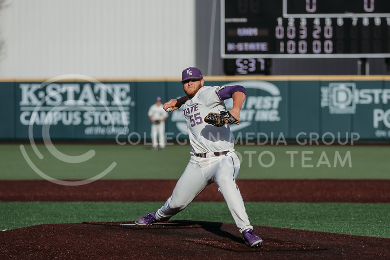 Senior pitcher Casey Ford prepares to pitch during the game on March 20, 2021 against New Mexico at Tointon Family Stadium. ( Sophie Osborn   Collegian Media Group)