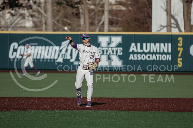 Freshman Nick Goodwin passes the ball during the game on March 20, 2021 against New Mexico at Tointon Family Stadium. ( Sophie Osborn   Collegian Media Group)