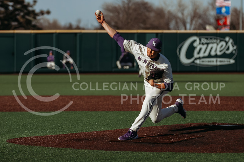 pitches during the game on March 20, 2021 against New Mexico at Tointon Family Stadium. ( Sophie Osborn   Collegian Media Group)