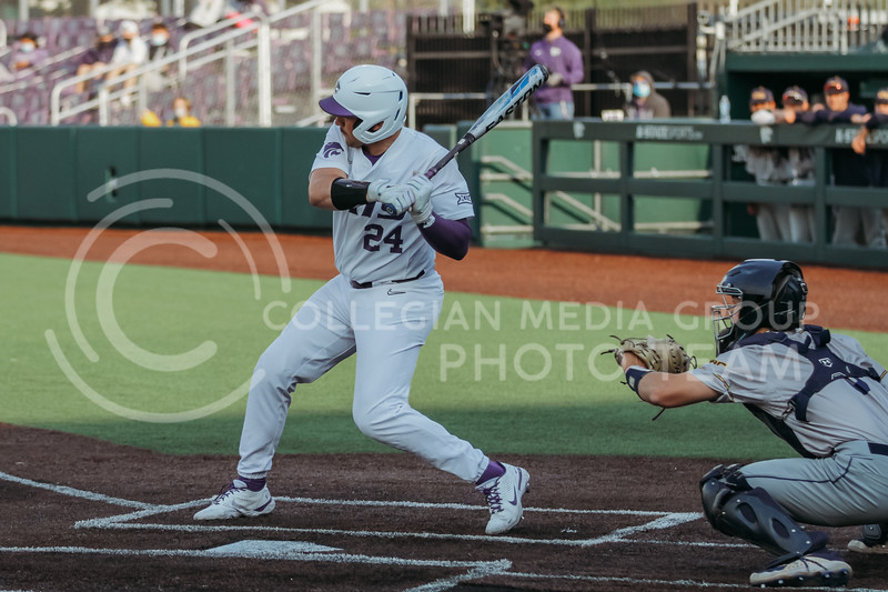 Sophomore Dylan Phillips swings during the April 13, 2021 game against Northern Colorado at Tointon Family Stadium. (Sophie Osborn | Collegian Media Group)