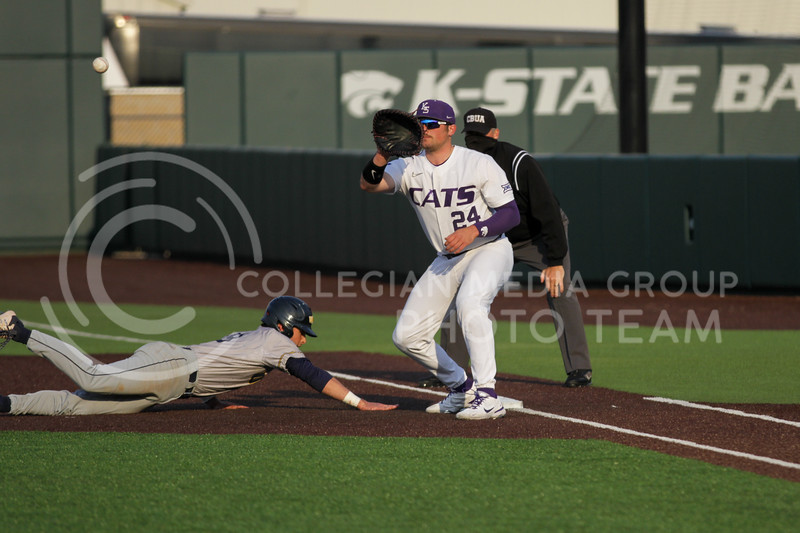 Sophomore Dylan Phillips tries to get out a runner during the April 13, 2021 game against Northern Colorado at Tointon Family Stadium. (Sophie Osborn | Collegian Media Group)