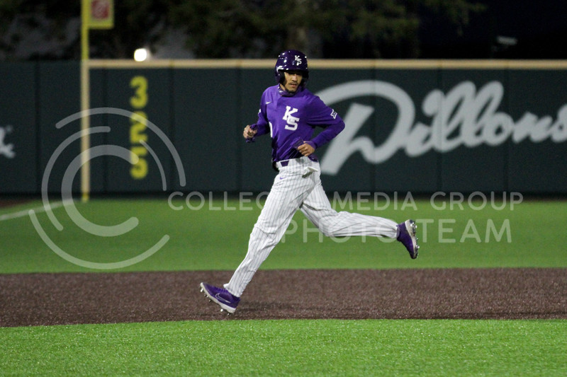 Junior Kamron Willman heads to third base during the April 14, 2021 game against Northern Colorado at Tointon Family Stadium. (Sophie Osborn | Collegian Media Group)