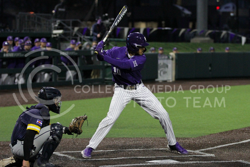 Junior Kamron WIllman gets ready to bat during the April 14, 2021 game against Northern Colorado at Tointon Family Stadium. (Sophie Osborn | Collegian Media Group)