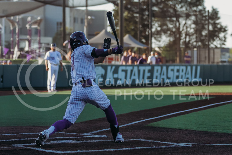 Sophomore Blake Burrows swings through during the April 30, 2021 game against Texas Southern at Tointon Family Stadium. (Sophie Osborn   Collegian Media Group)