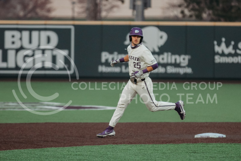 Freshman Nick Goodwin runs during the first game against Texas Tech on April 1, 2021. (Sophie Osborn   Collegian Media Group)