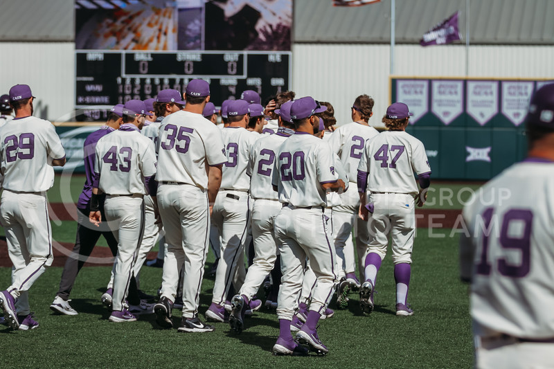 The team goes onto the field after winning the game against West Virginia on April 25, 2021 at Tointon Family Stadium. (Sophie Osborn   Collegian Media Group)