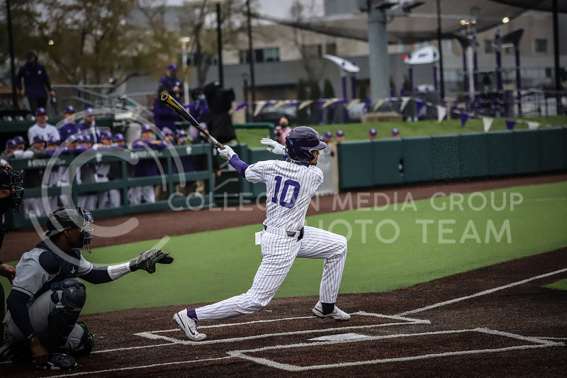 Redshirt Junior Kamron Willman up to bat and swinging on Friday's game ( April 23, 2021) against Western Virginia at Tointon Stadium. <br /> Elizabeth Proctor  Collegian Median Group