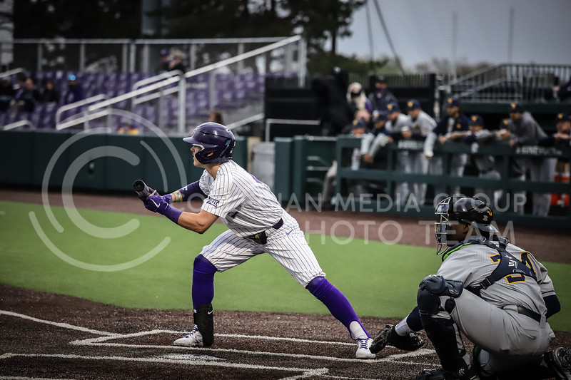 Sophomore Blake Burrows going for a bunt on Friday's game ( April 23, 2021) against Western Virginia at Tointon Stadium. <br /> Elizabeth Proctor  Collegian Median Group